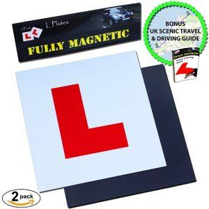 Magnetic L Plates by Le Yogi Extra Thick Strong Learner Plates prime products hub 10 best aids for learning to drive and for ADI's